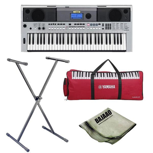 Yamaha PSR-I455 Portable Keyboard with Stand, Polishing Cloth and Gigbag