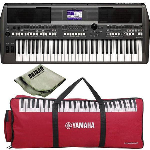 Yamaha Digital Keyboard PSR-S670 with Polishing Cloth and Gig Bag