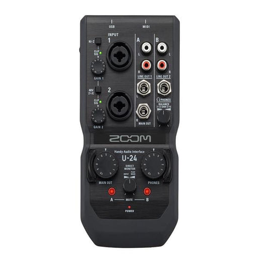 Zoom U-24 Handy Audio Interface - Black