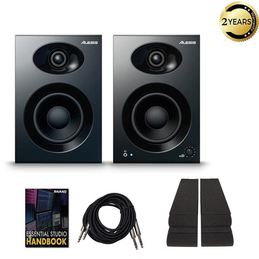 Alesis Elevate 4 4-Inch Powered Active Studio Monitor Speakers with Isolation Pads, Cables, and Ebook  - Pair