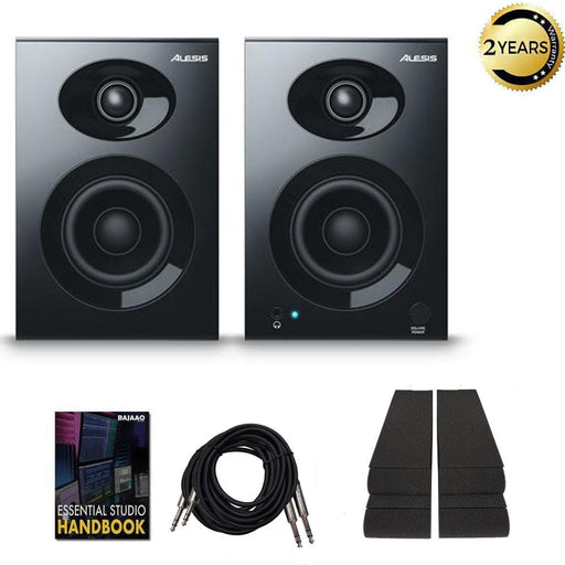 Alesis Elevate 3 MKII Monitors Speakers with Isolation Pads, Cables and Ebook  - Pair
