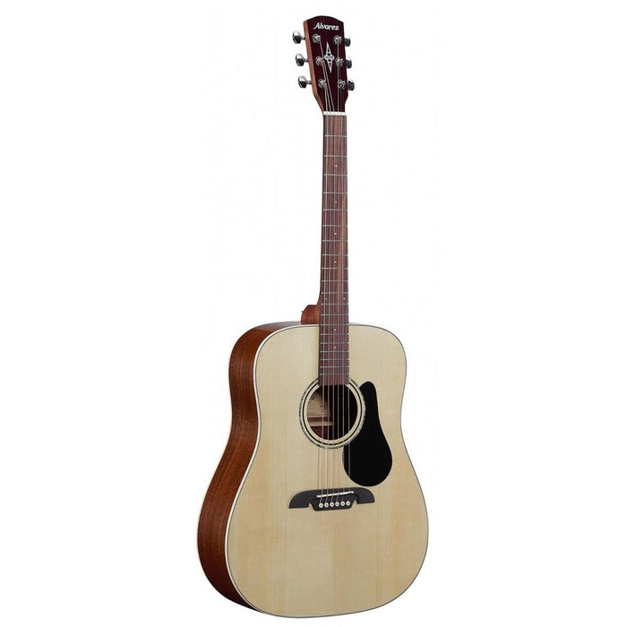 Alvarez RD26 Dreadnought 6 String Acoustic Guitar Pack with Bag, Tuner, Straps, Cloth & Picks - Natural Satin