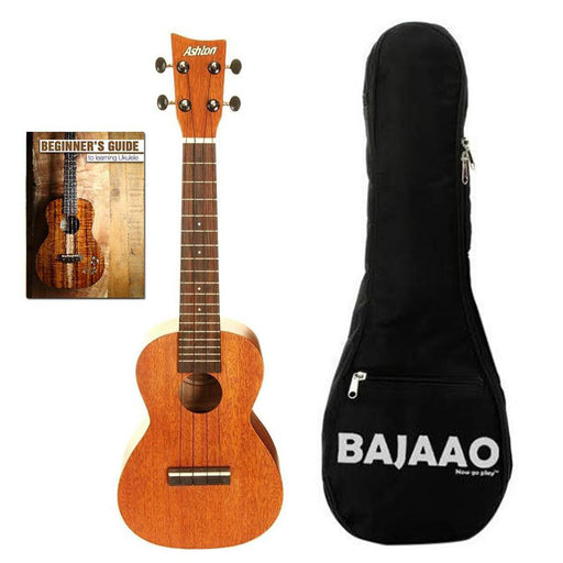 Ashton UKE240MH Concert Ukulele Bundle with Padded Gigbag & Ebook