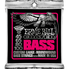 Ernie Ball 3834 Coated Bass Guitar Strings - Super Slinky