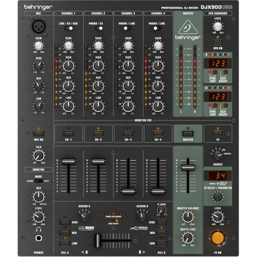 Behringer PRO MIXER DJX900USB Professional 5-Channel ultra-low Noise DJ Mixer