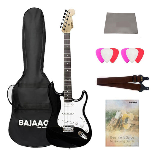 Fender Squier MM Stratocaster 6-String Electric Guitar - Maple Neck with Gigbag, Polishing Cloth, Strap, Picks & Ebook