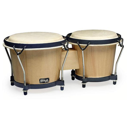 Stagg BW-70-N Traditional Wooden Bongos - Natural