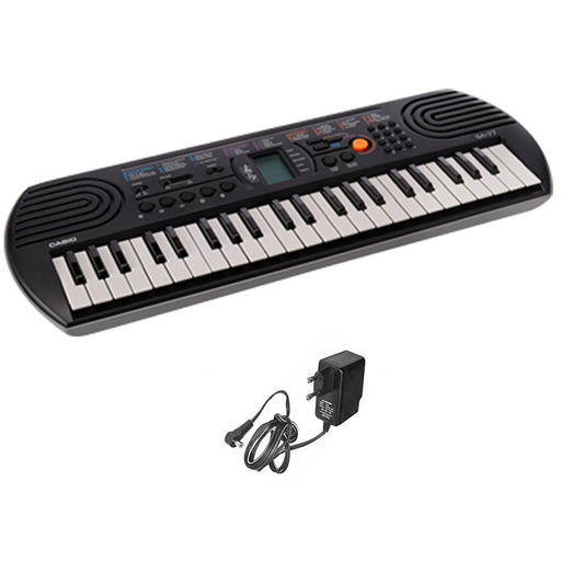 Casio SA77 Mini Portable Keyboard With Adapter, Polishing Cloth, Dust Cover, Online Lessons, Warranty & Ebook