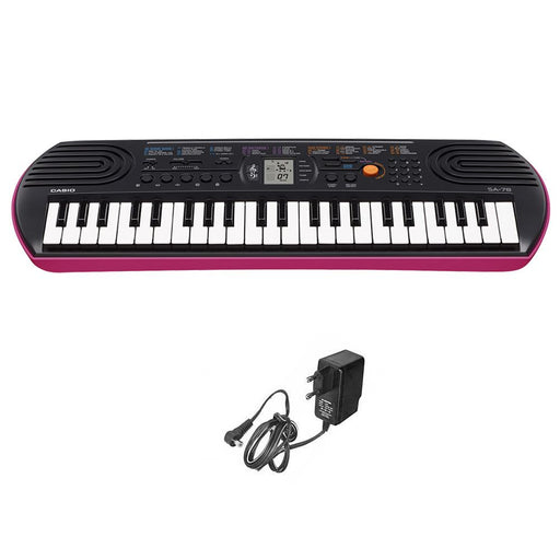 Casio SA78 Kids Mini Portable Keyboard With Adapter