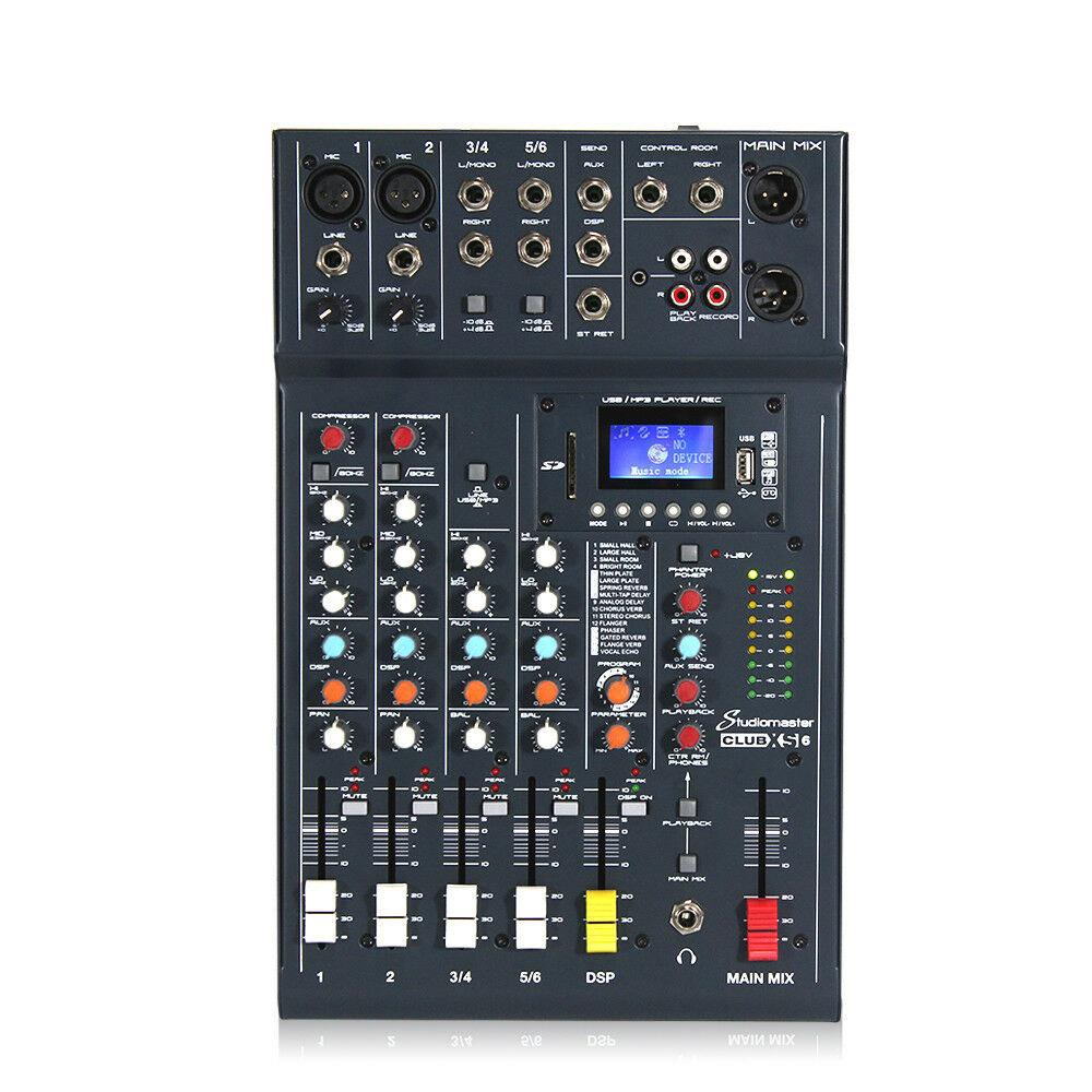 Buy Studiomaster Club Xs6 6 Channel Analog Mixer Online