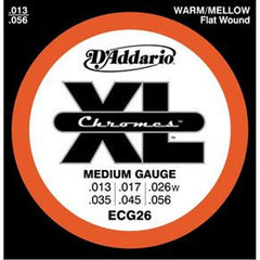 D'Addario ECG26 Electric Guitar Strings - Chromes Medium Gauge