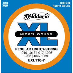 D'Addario EXL110-7 Electric Guitar Strings, Regular Lite, 7-String