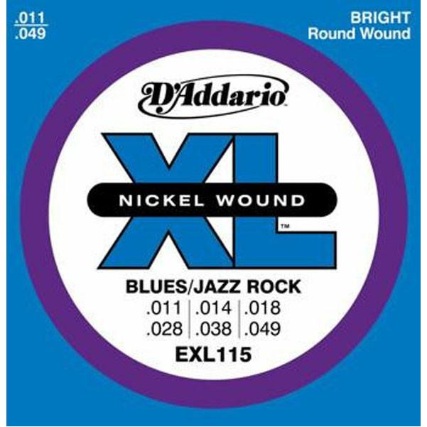 D'Addario EXL115 0.11 - 0.49 Nickel Electric Guitar Strings