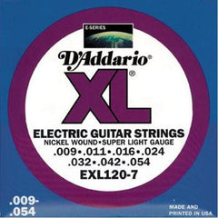 D'Addario EXL120-7 Electric Guitar Strings, Super Light, 7-String