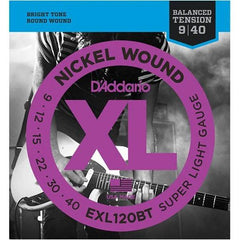 D'Addario EXL120BT Electric Guitar Strings - Nickel Wound 9-40