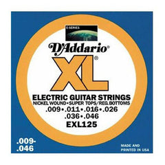 D'Addario EXL125 Light Top/Regular Bottom Electric Guitar Strings