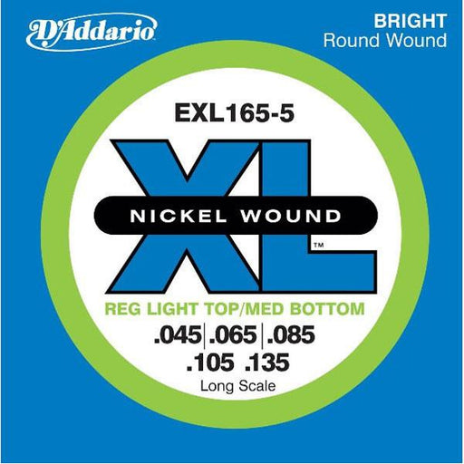 D'Addario EXL165-5 XL Nickel .045-.135 Bass String Set