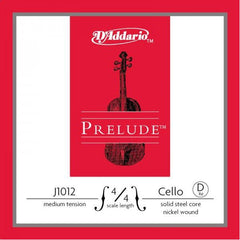 D'Addario Prelude J1012 4/4M D-Medium Cello String Set