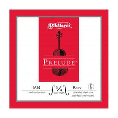 D'Addario Prelude Double Bass Guitar Strings - E J614, 3/4M, Medium