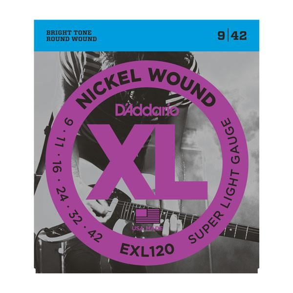 D'Addario EXL 120 Nickel 0.09 - 0.42 Electric Guitar Strings