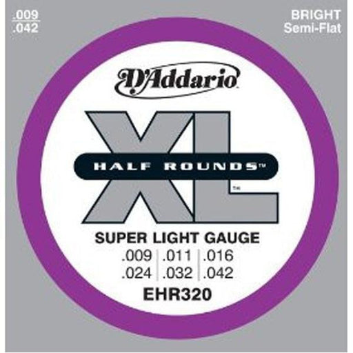 DAddario EHR320 Half Rounds Super Light Electric Guitar Strings