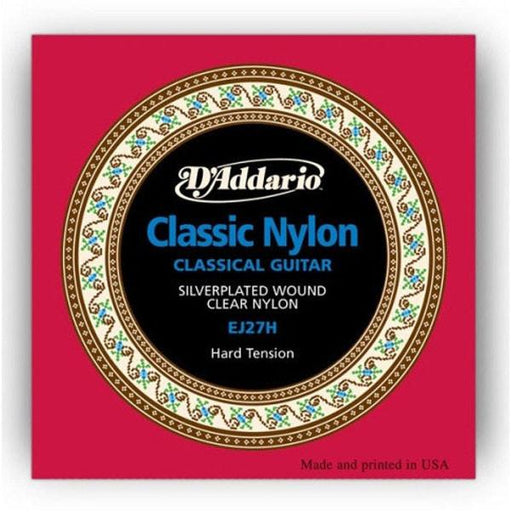 D'Addario EJ27H Student Nylon Classical Guitar Strings - Hard Tension