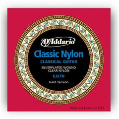 D'Addario EJ27H Acoustic Classical Guitar Nylon Strings - Hard Tension