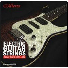 D'Alberto Nickel Electric Guitar Strings - Made in USA