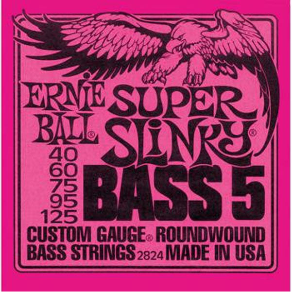 Ernie Ball 2824 Super Slinky 5-String Bass Guitar Strings - Want It Now!
