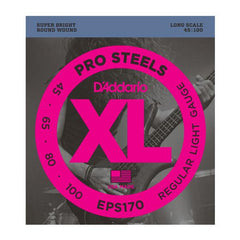 D'addario Pro Steels EPS170 Light Bass Guitar Strings