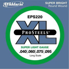 D'Addario ProSteels EPS220 Light Gauge Long Scale Bass Strings