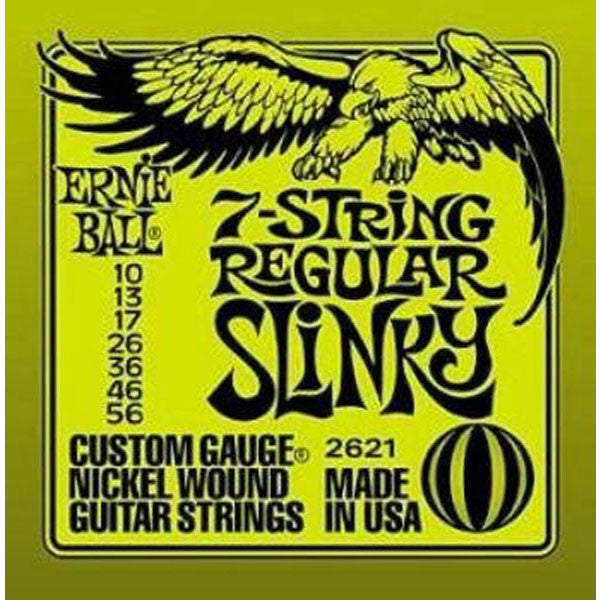 Ernie Ball 2621 7-String Regular Slinky Electric Guitar Strings - Want It Now!