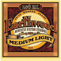 Ernie Ball 2003 Earthwood Acoustic Guitar Strings -  Medium Light