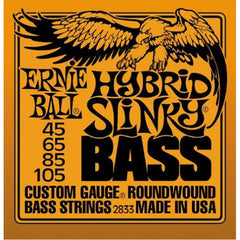 Ernie Ball 2833 Hybrid Slinky Bass Guitar Strings - Round Wound.