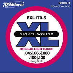 D'Addario EXL170-5 XL Nickel Round Wound 5-String Bass Strings