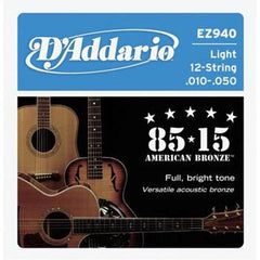 D'Addario EZ940 12-String 85/15 Acoustic Guitar Strings