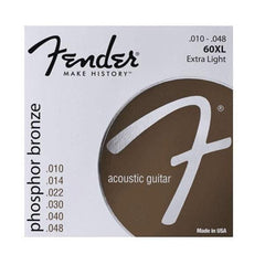 Fender 60XL Phosphor Bronze Acoustic Strings - Extra Light
