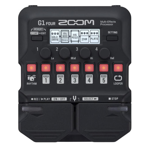 Zoom G1 and G1X Four Guitar Multi-Effects Expression Pedal