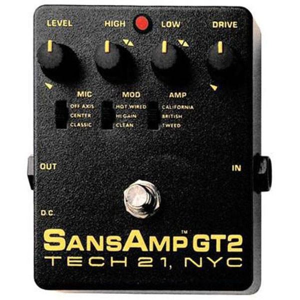 Tech 21 SansAmp GT2 Tube Amp Emulator Pedal
