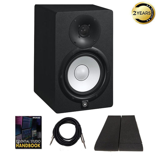 Yamaha HS7 Two Way 6.5inch Active Monitor with Isolation Pads, Cable and Ebook - Single Unit
