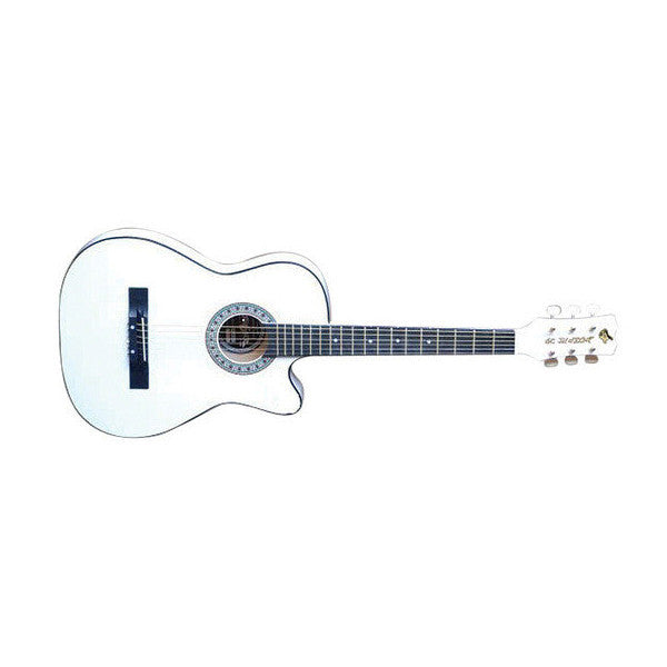 GC Junior 38inch Acoustic Guitar (White) - Open Box
