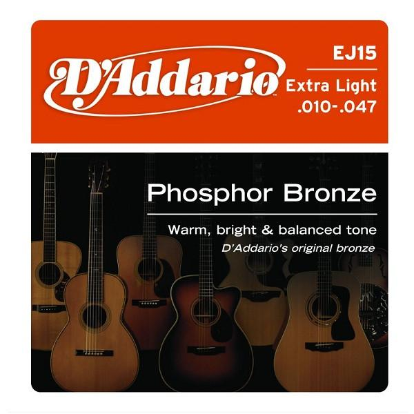 D'Addario EJ15 Phosphor Bronze ExtraLight Acoustic Strings