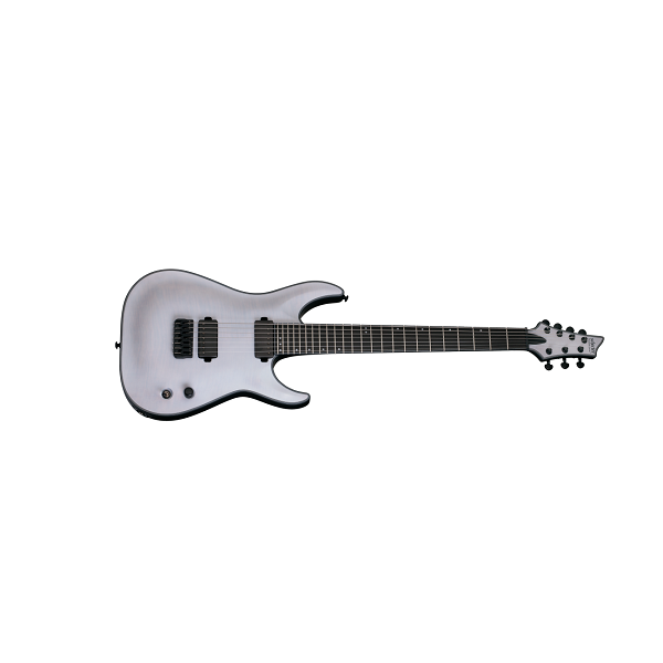 Schecter Guitar Research Keith Merrow KM-7 Electric Guitar - 7 String, Trans White Satin