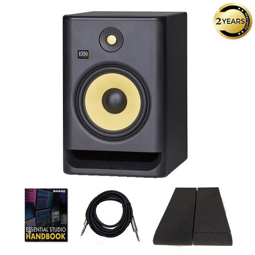 KRK ROKIT 8 G4 8inch Powered Studio Monitor Speaker with Isolation Pads, Cable and Ebook  - Single