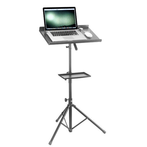 Stagg Laptop Stand With Extra Table - Black