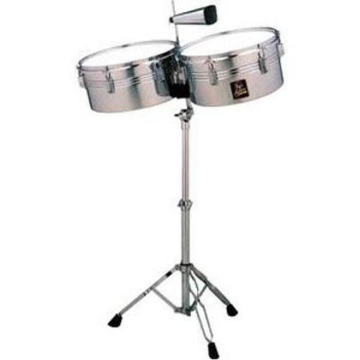Latin Percussion LPA256 Timbale Set with Stand + Free Cowbell
