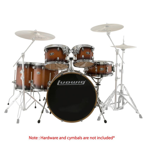 Ludwig Evolution Maple Series 6-Piece Shell Pack Drum Kit  - Mahogany Burst