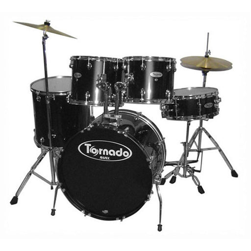Mapex Drum Set Tornado 5 Pcs w/Hardware Throne & Cymbals TNM5254TCUDK - Black