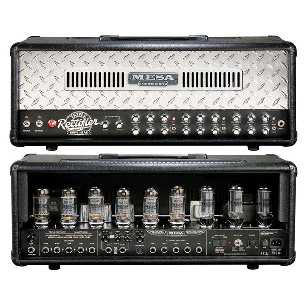 Mesa Boogie Triple Rectifier 150-Watt Tube Head - Diamond Plate Grille