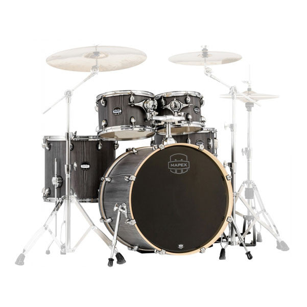 Mapex MA529SFGW Mars Series 5pc Rock Shell Pack - Smokewood Finish